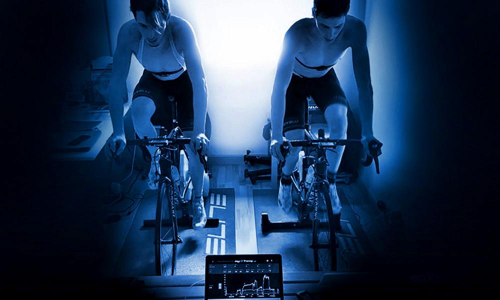 I gemelli Daniele e Luca Braidot, atleti Elite MTB XC e Ciclocross, impegnati in un test presso il Centro Medicus a Udine, Friuli